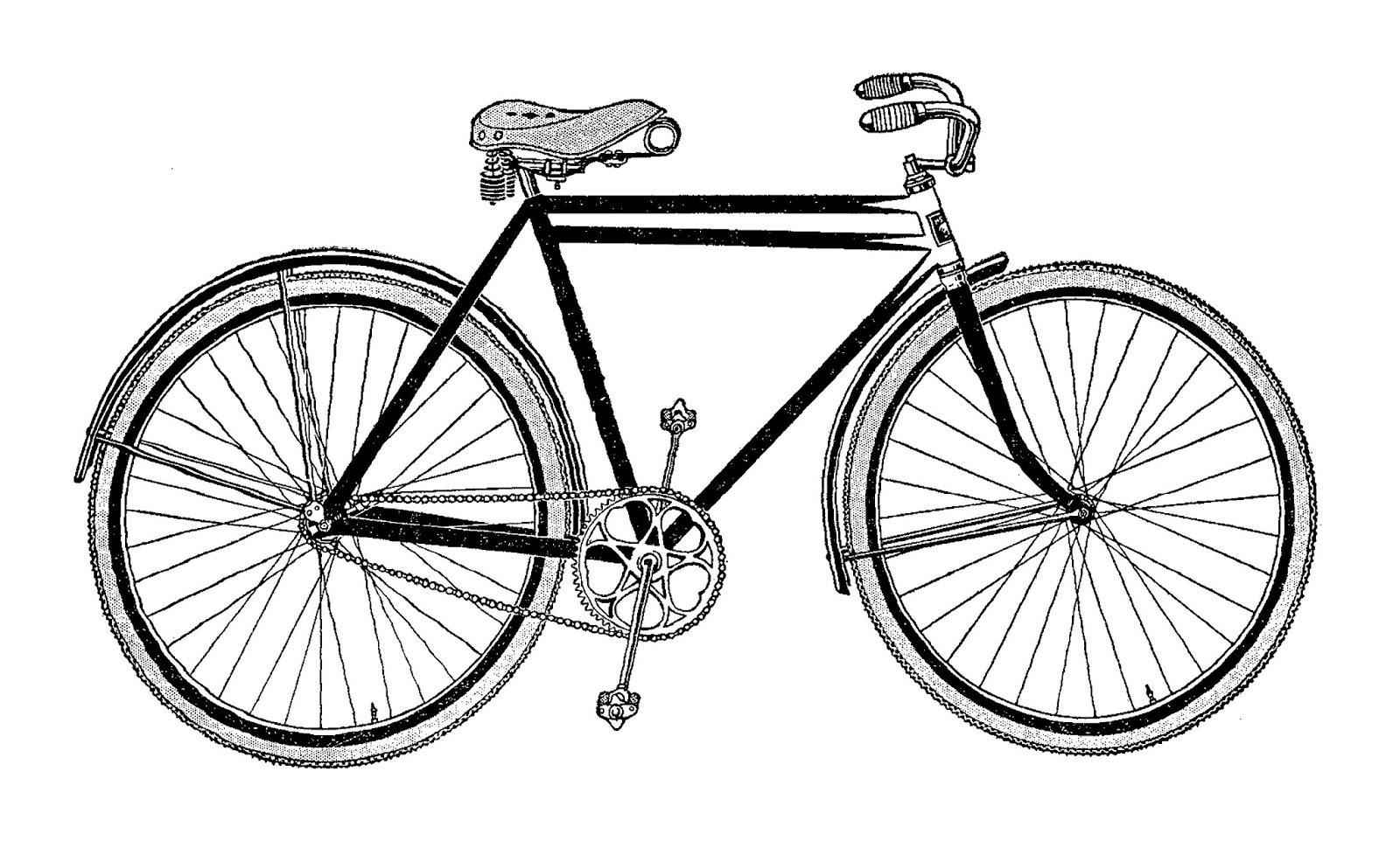 Digital Stamp Design Vintage Bicycle Artwork