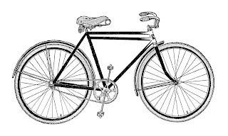 bike bicycle old vintage illustration digital image