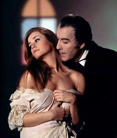 Linda Hayden and Christopher Lee in 'Taste the Blood of Dracula' (1970)