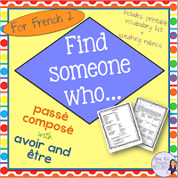 If you need a fun way to reinforce the passé composé using avoir and être, this Find Someone Who...activity is just what you need.  Includes speaking activity, printable question page you can give as homework or use as a speaking assessment, and French and English speaking rubrics.  Click here to check it out!