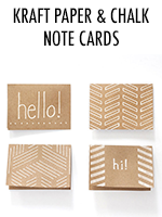 Kraft Paper and Chalk Note Cards
