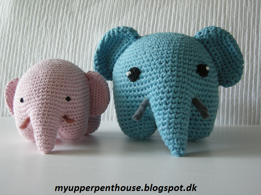 Amigurumi Xxl Elefant : MyUpperPenthouse: Amigurumi elefant (dansk opskrift)