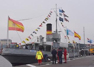 Steamship, HMS Elfin, on which Sinterklaas arrived, Zaandam, The Netherlands