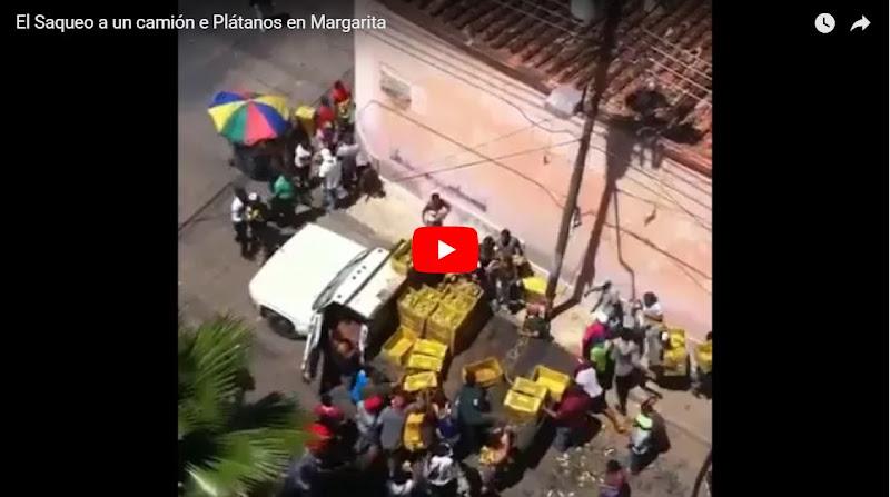 El Hambre y la Delincuencia durante un Saqueo de Plátanos en Margarita