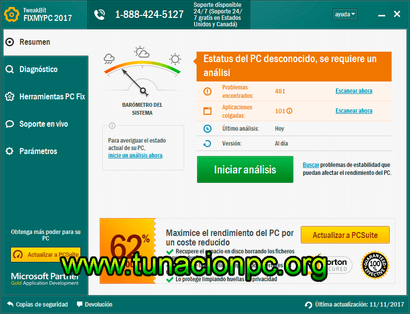 TweakBit FixMyPC, Repara Problemas de Windows