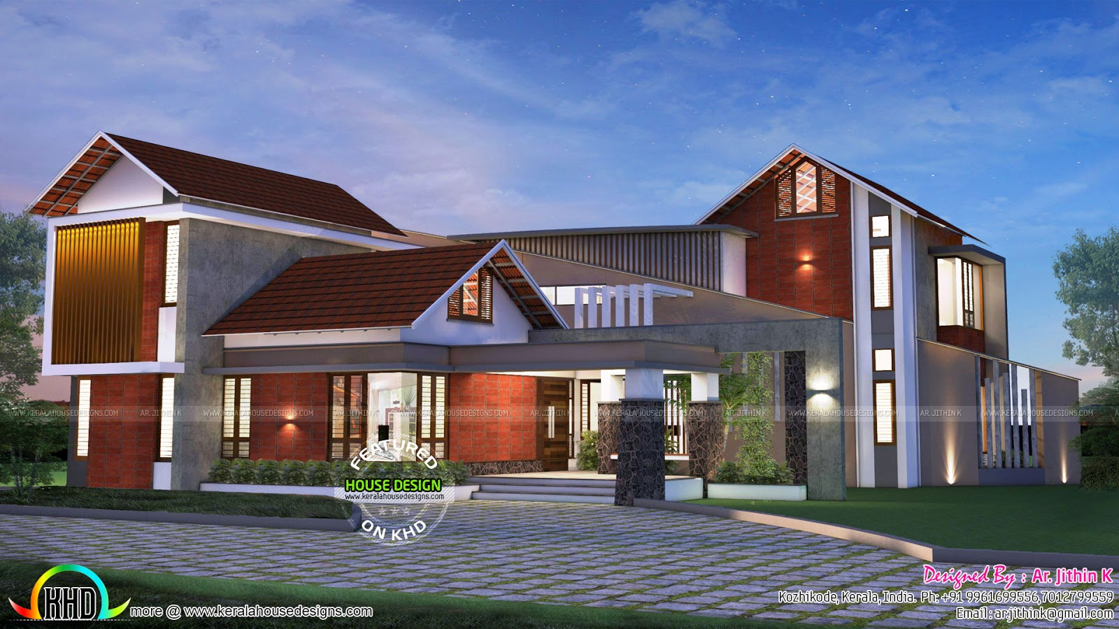 Contemporary Mix House With Plan By Ar Jithin K Kerala