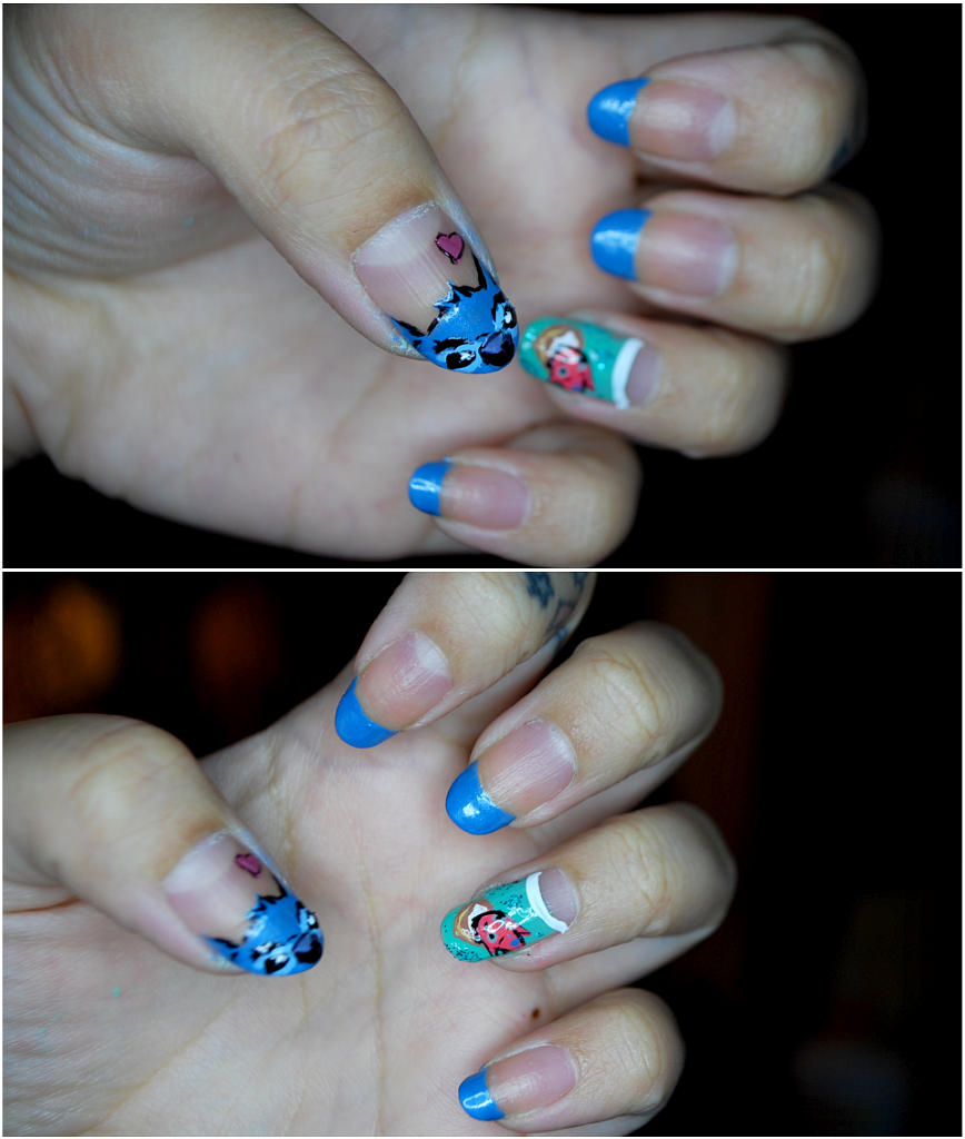 My Darling Rainbow: Lilo and Stitch nails