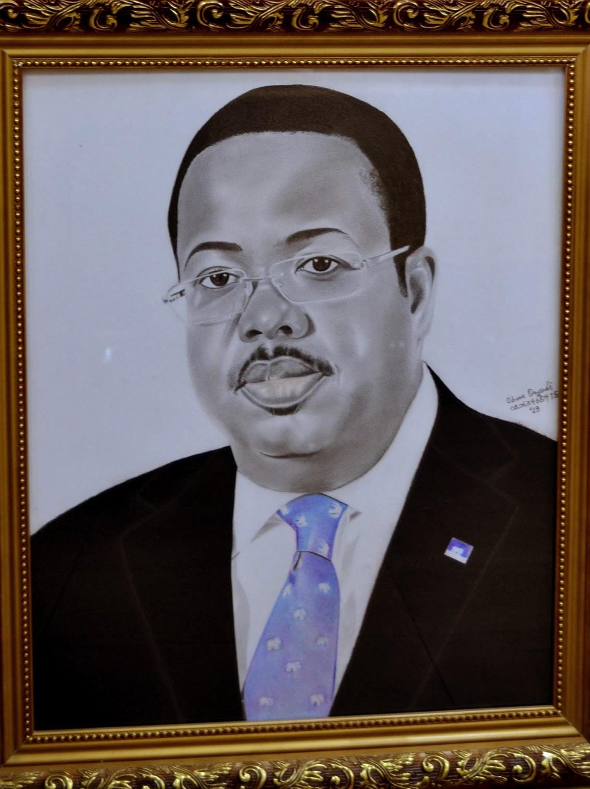 CEO of First Bank Nigeria Stephen Onasanya's realistic pencil drawing