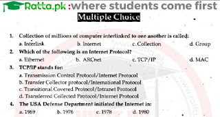 1st Year Computer Chapter 10 MCQs solved pdf - ICS Part 1