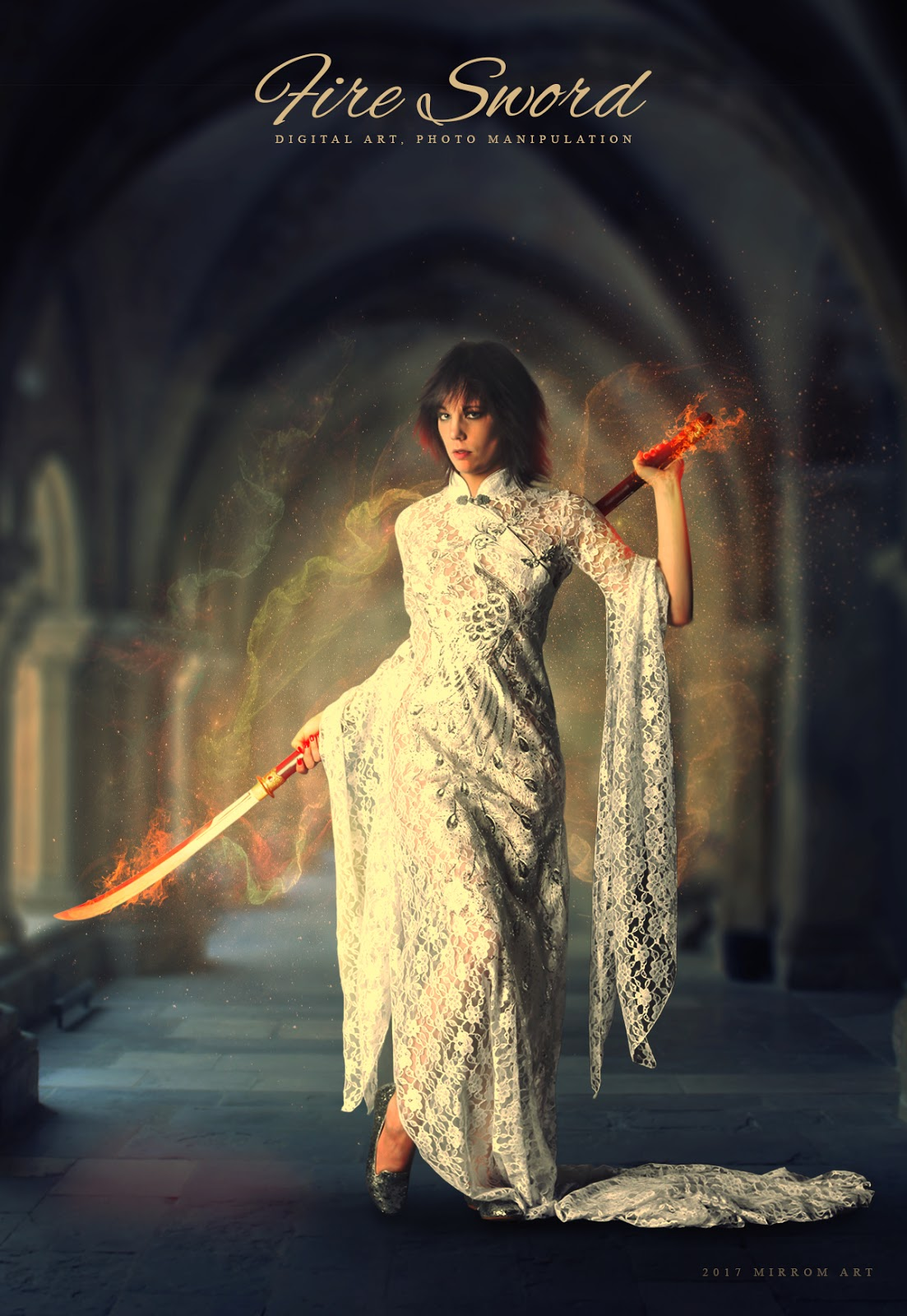 Fire Sword Fantasy Art Photo Manipulation In Photoshop