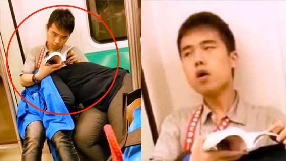 Apa yang pasangan kekasih ini buat di dalam keretapi sangat menjijikkan