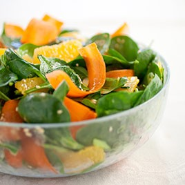 How to Make Spinach Salad with Carrot Orange and Sesame (Fresh Spinach Salads)