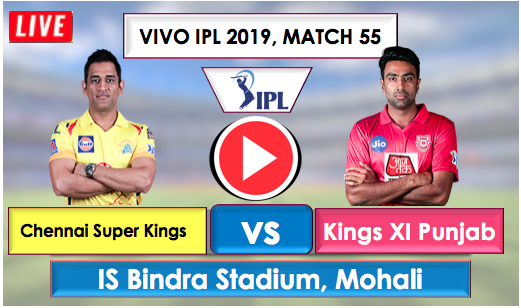 CSK vs KXIP Live Streaming Online free, CSK is batting first