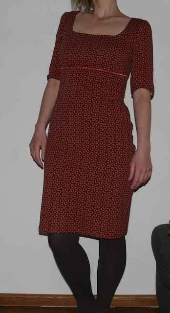 burda tricot jurk