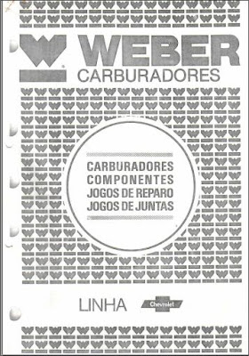Catálogo de carburadores Weber linha Chevrolet