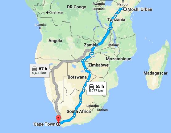 Tanzania To South Africa
