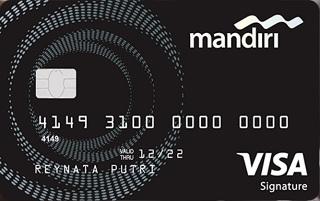 Mandiri kartu kredit Visa Signature