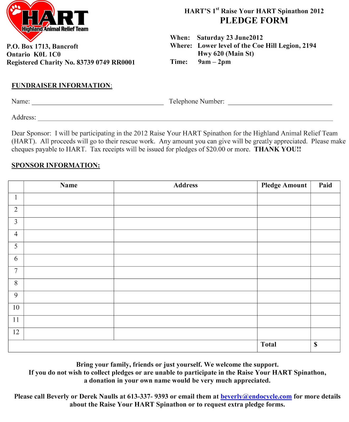 Pin fundraising pledge form on pinterest for Charity pledge form template