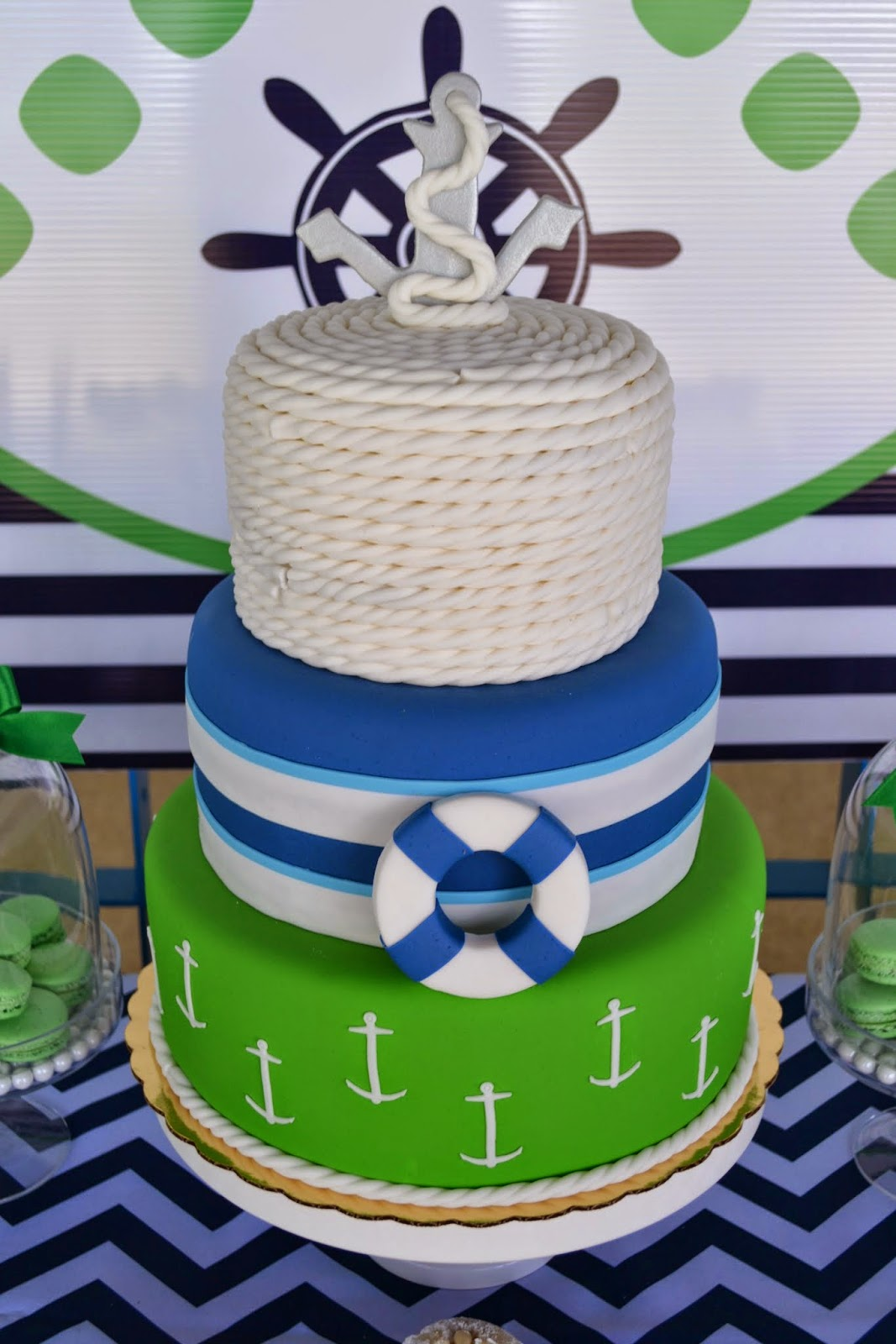 Partylicious Events Pr Navy Amp Green Nautical Party