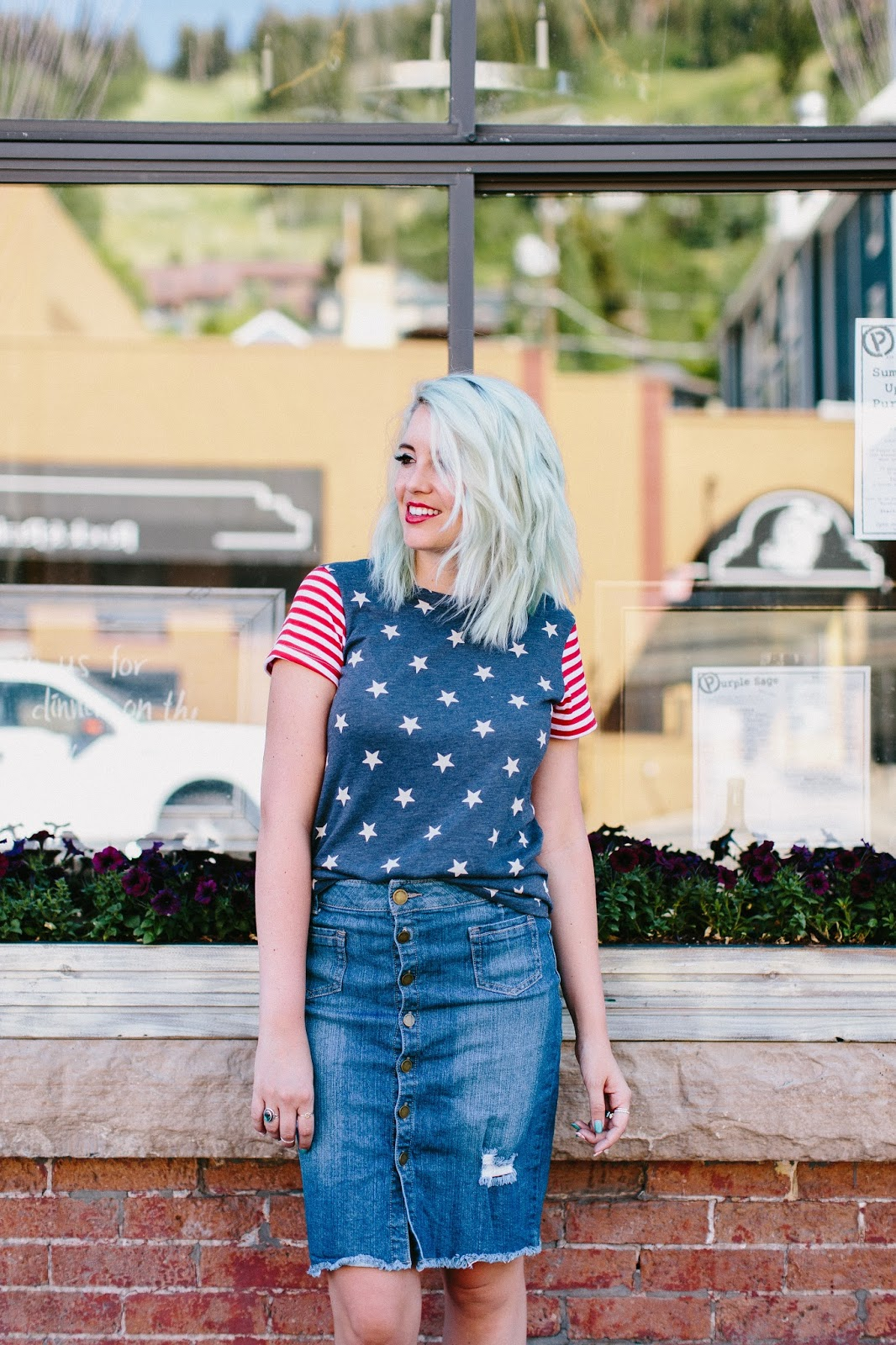 Blue Hair, Mint Hair, Fashion Blogger