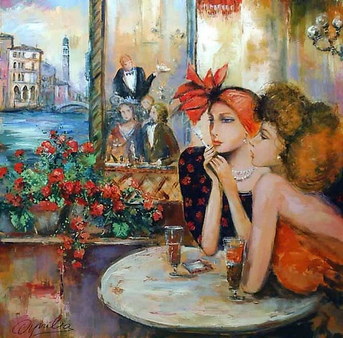 Romantic Venice painting by Lovilla Chantal [Ловилла Шанталь]