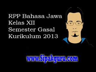 RPP Bahasa Jawa Kelas XII, Aksara Swara Kurikulum 2013