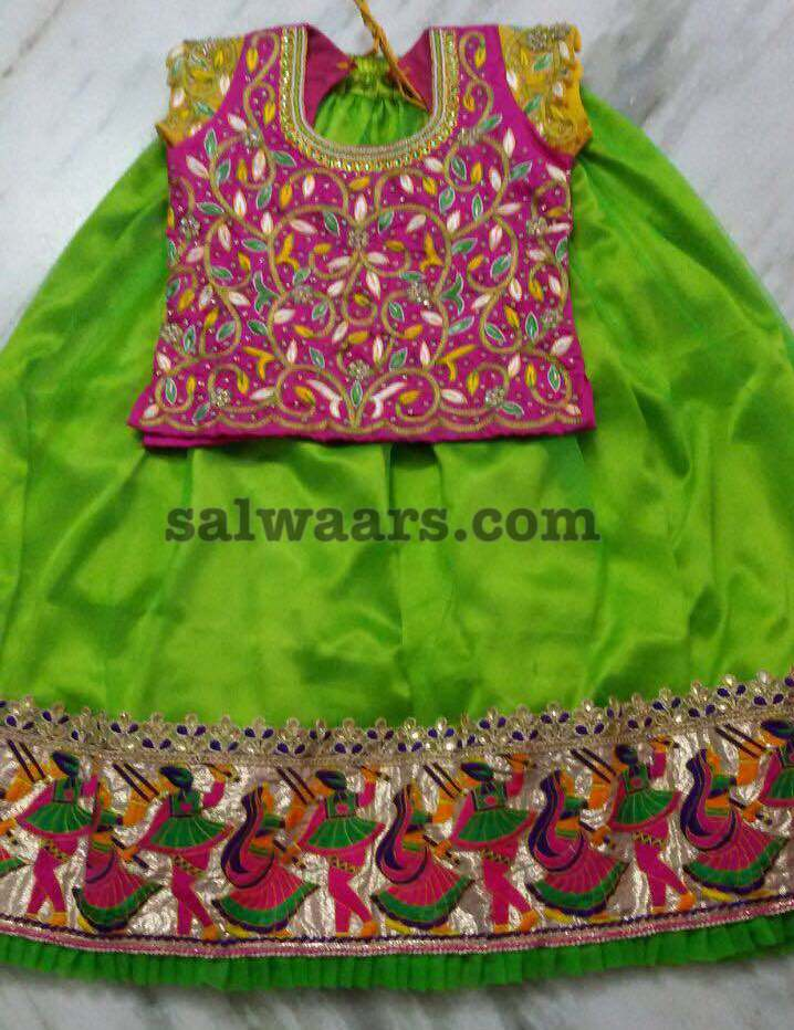 8d108244b4cee Green Lehenga All over Work Blouse - Indian Dresses