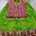 Green Lehenga All over Work Blouse