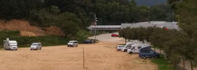 Vista general de l'àrea d'autocaravanes de Sant Hilari Sacalm