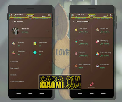 Download Tema MIUI Brown And You OneV1 For Xiaomi