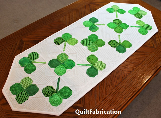 Clover Field Runner on the coffee table