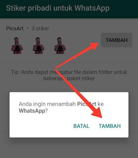 Penambahan Stiker Melalui Stiker Pribadi Untuk WhatsApp