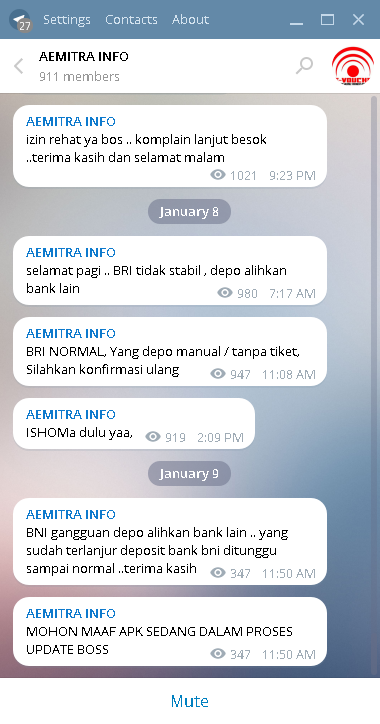 Cara join ke channel telegram