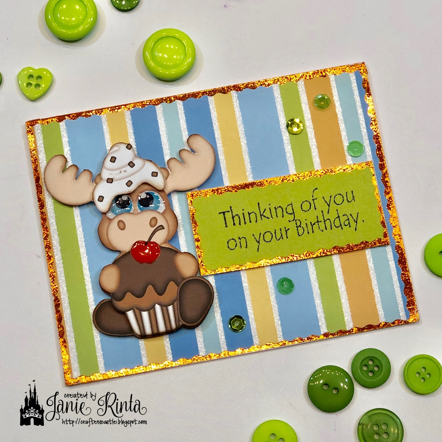 Crafter's Castle: Moose Wonderful Birthday Card!