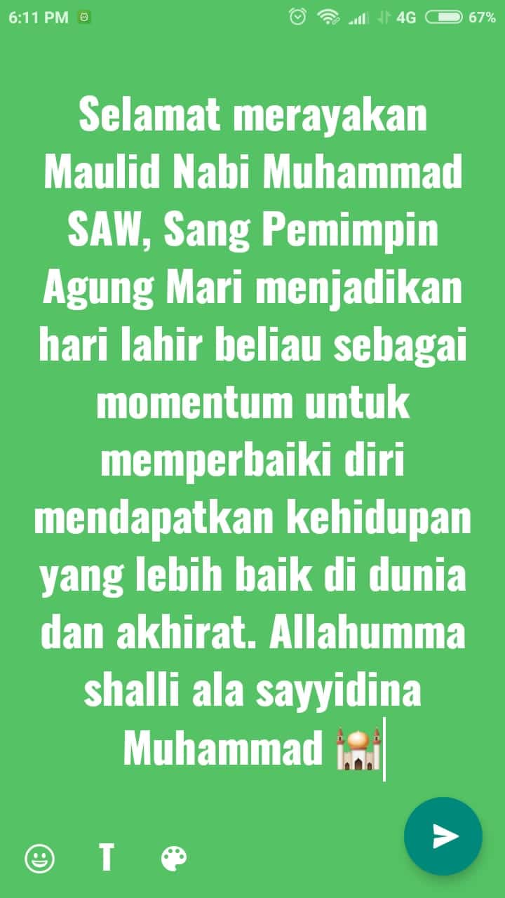 caption maulid nabi