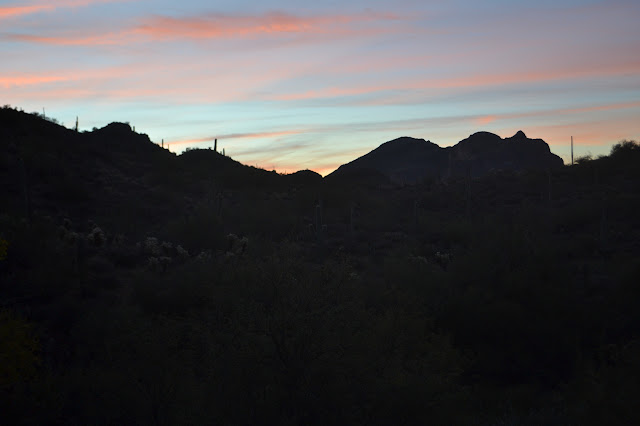 desert sunrise, not enough clouds