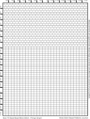 Brick Stitch Native American Earring Graph Paper