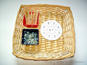 Addition Wheel and Clothespin Activity