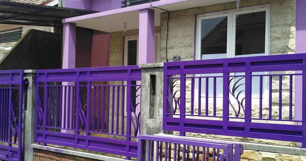 Kombinasi Warna Cat Pagar Besi  52 baru warna cat rumah minimalis nuansa ungu warna cat