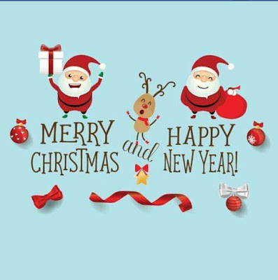 Merry Christmas & New Year Wish  Santa wishing images