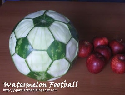 soccer watermelon carving