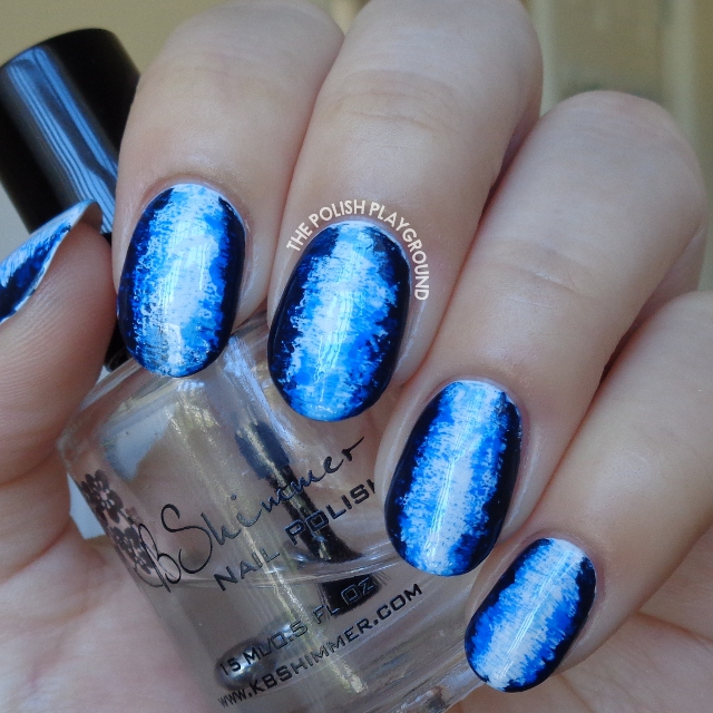 Blue 3D Inspired Nail Art
