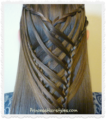 Criss cross waterfall mermaid braid video instructions