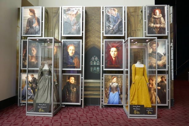 Mary Queen of Scots movie costume exhibit