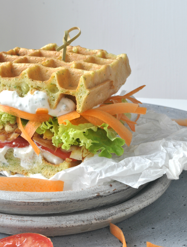 glutenfree Waffle-Sandwich, 'cause you don't need bread for a great sandwich!