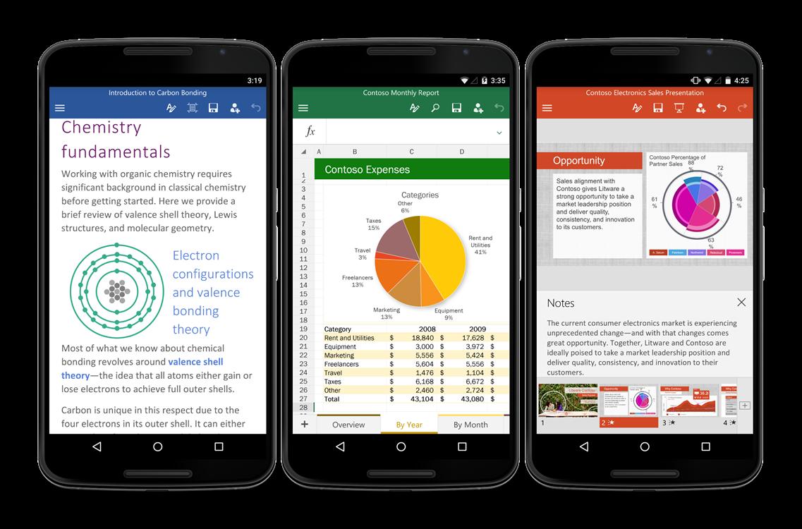 微軟更新推出Android手機版Office系列App