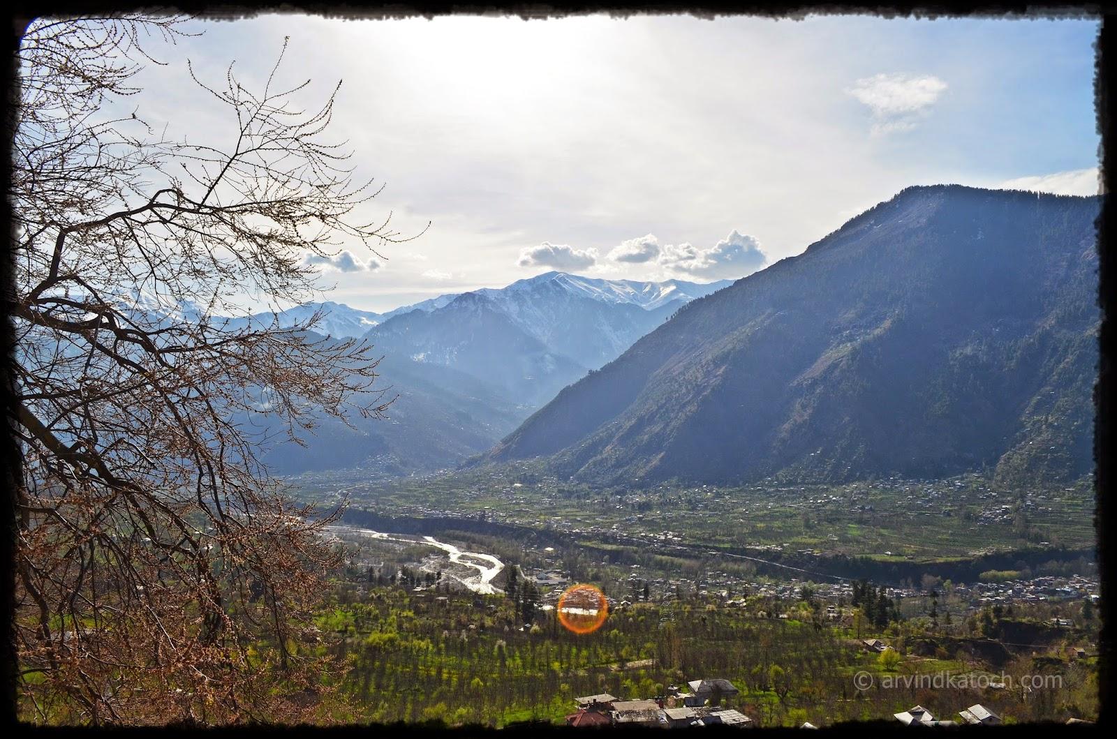 Naggar, castle, Beas river, Kullu, Himachal,