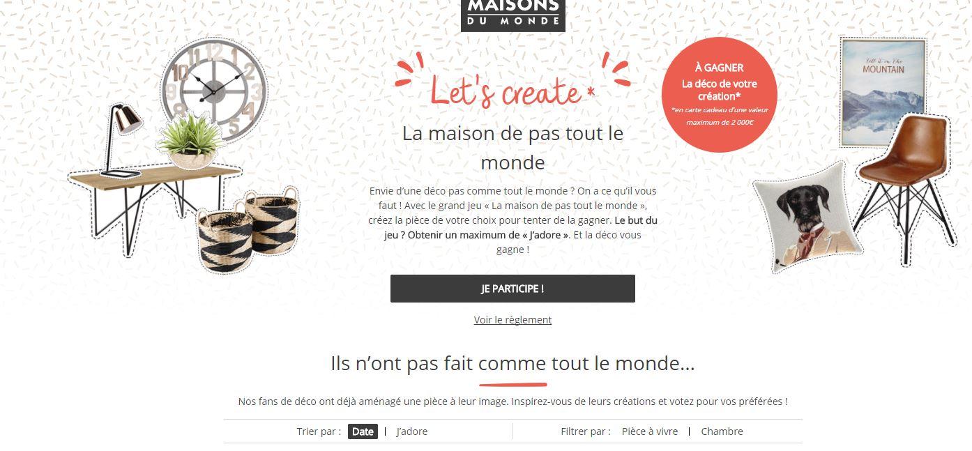 Concours Maison Du Monde.La Chambre Est Traversee Par Le Vent Let S Create Jeu