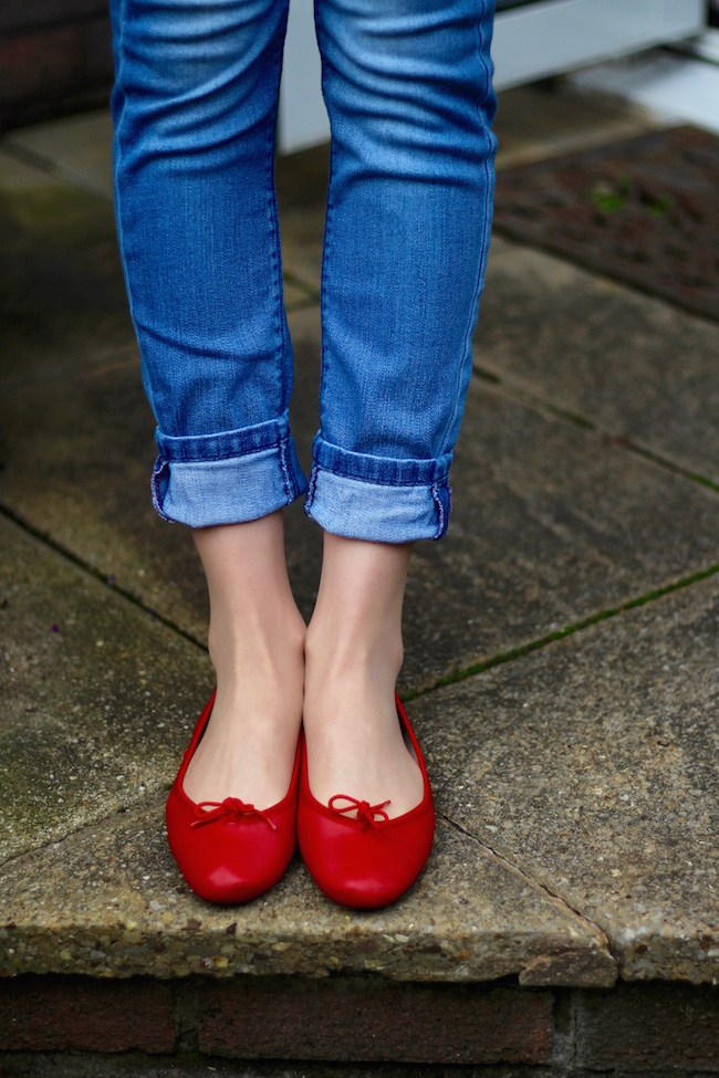 Fake Fabulous |Red french sole ballerinas