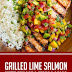 Grilled Lime Salmon with Avocado-Mango Salsa and Coconut Rice #healthyrecipes #glutenfree